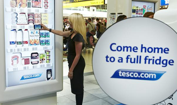 Tesco interactive screen